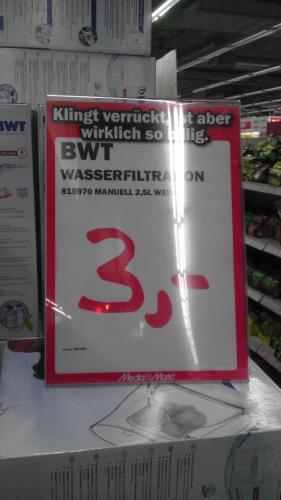 BWT Tischwasserfilter 2,5 L, weiß @ MediaMarkt Berlin