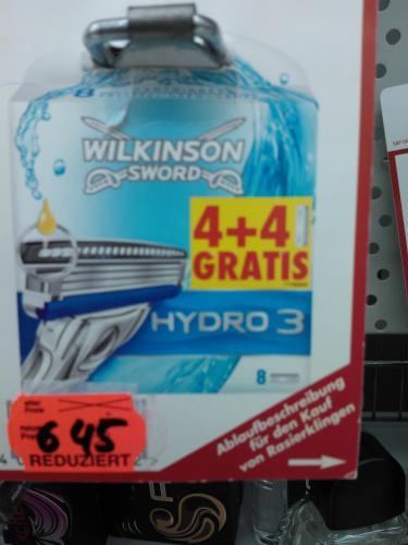 4+4 Klingen Wilkinson Hydro 3 pro Stück 0,81 Euro ( Kaufland Beckum) Lokal???