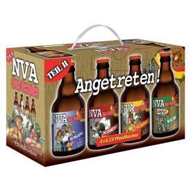 Bier 8x0,33l mit lustigen NVA-Motiven