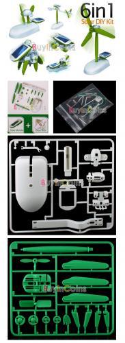 6 in 1 Solarspielzeug DIY (Auto, Ventilator, Boot usw..) für 3,54€ inkl. Versand aus HK @ ebay