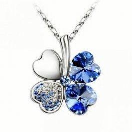 (Amazon) Klee Halskette mit Swarovski Kristallen