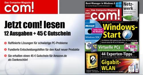 com! im Jahresabo für rechnerisch 14,88 Euro inkl. Versand