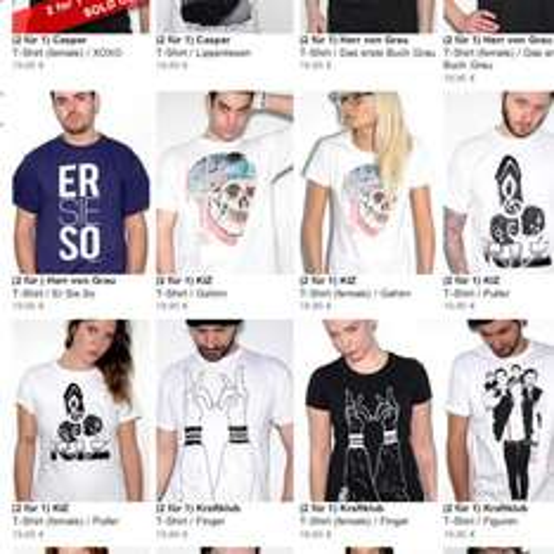2 für 1 T-Shirts von Casper, Kraftklub, K.I.Z und anderen