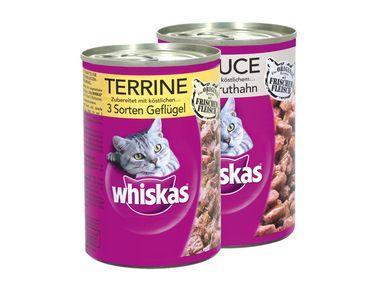 Lidl whiskas Katzenfutter Feuchtfutter Dose 400g Terrine/in Sauce 0,49€