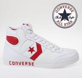 """[online] Converse Schuh """"Fast Break Hi"""" Weiss Leder (aus der Bucht)"""