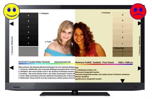 Testbild zur optimalen Einstellung eines LED TV's