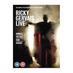 Ricky Gervais Live Complete Box Set für ca. € 22 @ amazon.co.uk