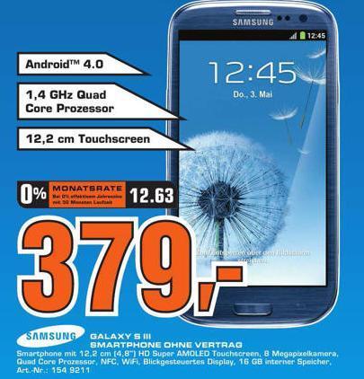 [lokal ??? Saturn Berlin ] Samsung Galaxy S III I9300 blau