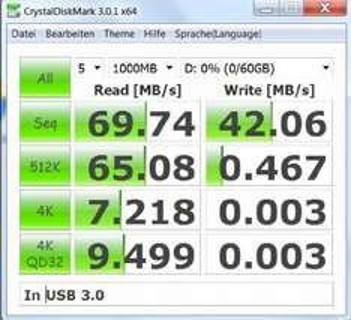Winten 64GB USB stick USB 3.0 (50MB/s), mit rotierenden Edelstahl Schale design