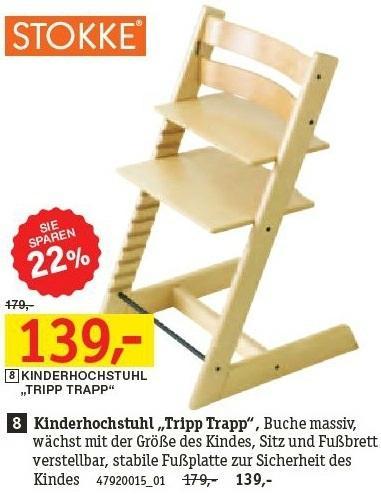 Stokke Tripp Trapp Buche massiv für 139,- (UVP 179,-) XXXL Möbelhäuser