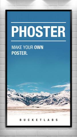 [iOS] Phoster  - Poster und Einladungskarten selbst herstellen