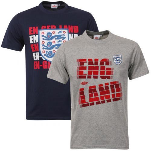 Umbro Men's England 2-Pack T-Shirts fast nur in Größe S