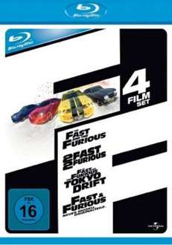 Bluray: Fast & Furious 1-4 Steelbook aus D ab 18,99 €