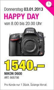 [SCHWEIZ] Nikon D600 Body Vollformat @ microspot CHF 1540