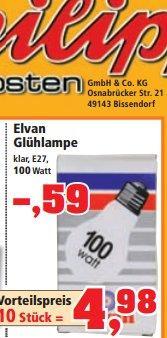 100 Watt Glühbirne bei Thomas Philipps