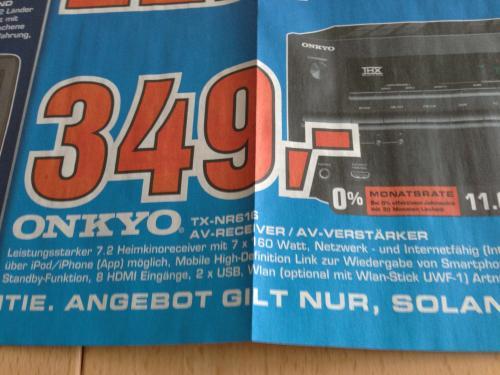 Onkyo TX-NR616 für 349€ im Saturn Witten (lokal)
