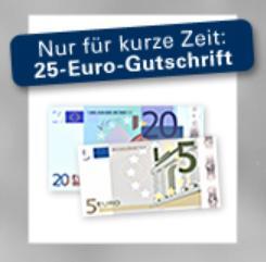 25 Euro Startguthaben beim 1822direkt Tagesgeldkonto mit 1,85% Zinsen