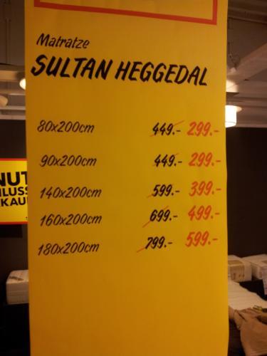 Ikea Kaarst - Matratzen - Heggedal und Hagavig zwischen 25% und 38% günstiger