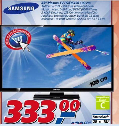 (Bundesweit? REAL) Samsung PS43E450