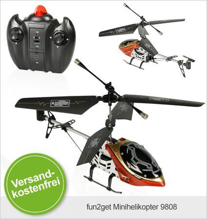 Ab 19,95€ statt 49,90€: Der fun2get Minihelikopter 9808 oder YD-618 @limango.de