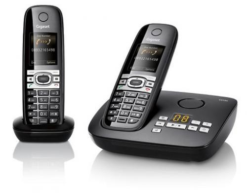 Siemens Gigaset C610A + C610H Duo mit Anrufbeantworter schwarz
