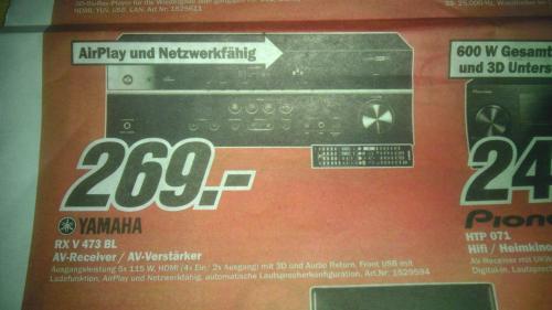Lokal? MediaMarkt Neunkirchen Yamaha RX V 473 BL AV-Receiver