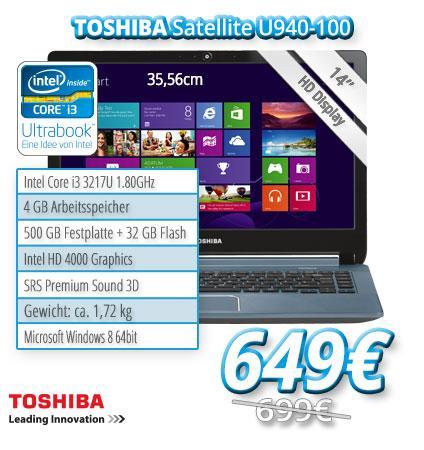 Toshiba Ultrabook Satellite U940-100