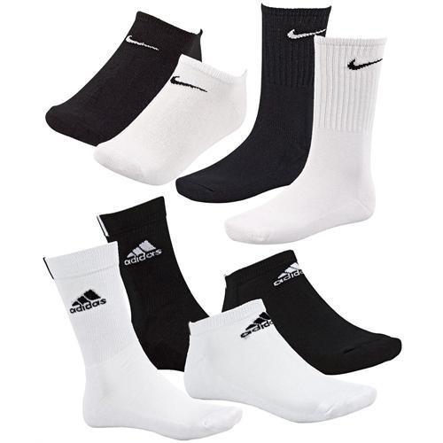 Adidas / Nike 9er Pack Sneaker Socken oder Sportsocken 39-42 43-46 19,99 € @ ebay