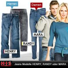 HIS Damen oder Herren Blue Jeans Denim Hose Blau
