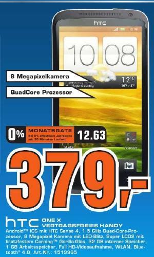 """Saturn Tübingen: HTC One X 32GB für 379€, Panasonic TX-L42ETW50 (42"""" 3D LED, WLAN) für 799€ (bzw. 724€ nach Cashback) und mehr!"""