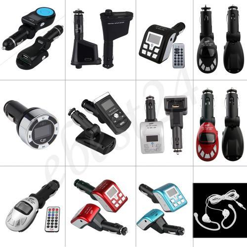 Auto KFZ FM Transmitter USB/SD/MP3 Bluetooth 2.0 Fernbedienung Kopfhörer  2,99€ inkl. Versandab