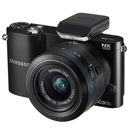 Samsung NX1000 / 20 Megapixel / KIT Schwarz / (Systemkamera +20-50mm F3.5-5.6 ED II) / 299,99 € + Versand