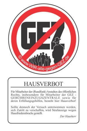 Unterschriftenaktion gegen die GEZ (Sie heisst jetzt AZDBS) und deren Zwangsgebühren!