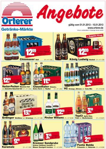 [Offline] Orterer Getränkemärkte (Ober- und Niederbayern): Apfel- und Multi-Säfte in Mehrwegflaschen für 0,67€/1ltr.