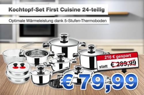 Das Kochtopf-Set von First-Cuisine mit 24 Teilen