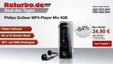 Deal des Tages: Philips GoGear MP3-Player Mix 4GB schwarz für 24,90€ @returbo.de