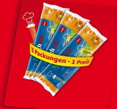[Reminder] 3 Packungen Spaghetti für 1, 11 € beim Penny Framstag