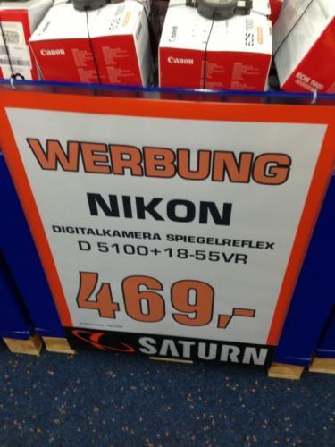 Nikon D5100 inkl. 18-55 VR Objektiv - Lokal Wolfsburg