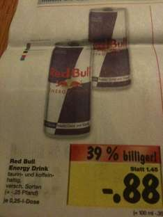 [Lokal?! Kaufland] Red Bull Energy Drink 88Cent