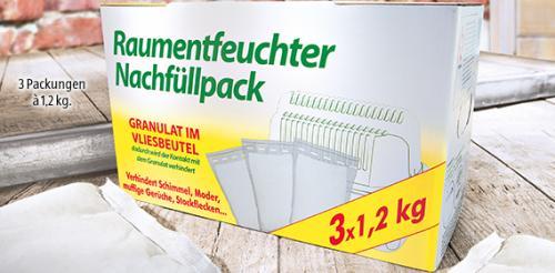 Aldi Süd Luftentfeuchter 3 x 1,2 Kilo Nachfüllpack