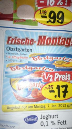 Obstgarten 125g Becher für 17 Cent @ Lidl [bundesweit]
