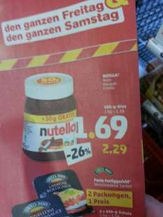 Nutella 500g bei Penny 1,69 Euro