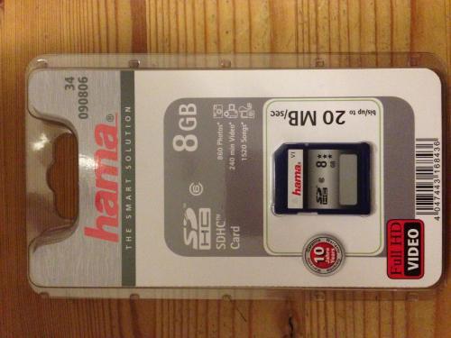 Offline (Globus Weischlitz): Hama 8GB SDHC Class 6