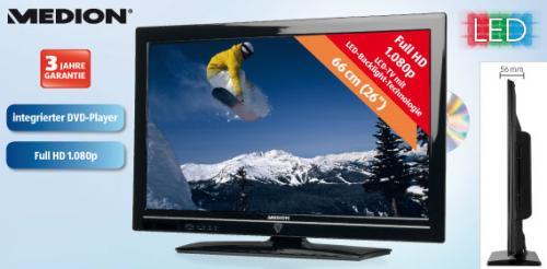 """Medion LED Backlight TV 66cm (26"""") - 299€"""
