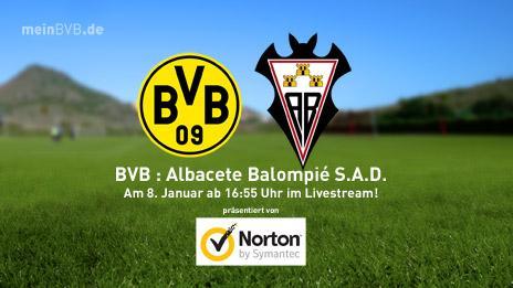Testspiel Borussia Dortmund gegen den spanischen Zweitligisten Albacete Balompié im kostenlosen Live-Stream