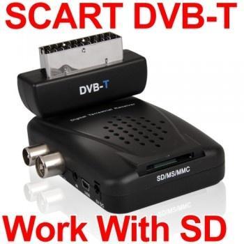 DVB-T TV/Radio SD Tuner Receiver Scart Empfänger für 15,34€ (Vergleich 26,95€)