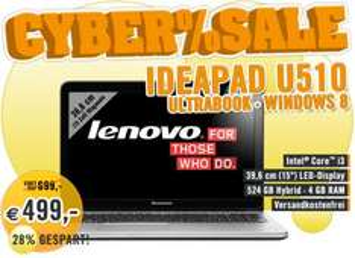 Lenovo IdeaPad U510 Ultrabook MBM62GE @cyberport / facebook cybersale