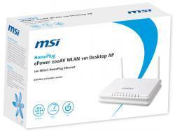MSI ePower 200AV+ 11n Desktop AP fuer 29 Euro