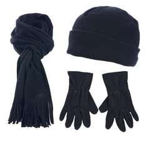 (UK) Fleece Winter Pack (Hütze + Schal + Handschuhe) Unisex für 3,99€ @ play