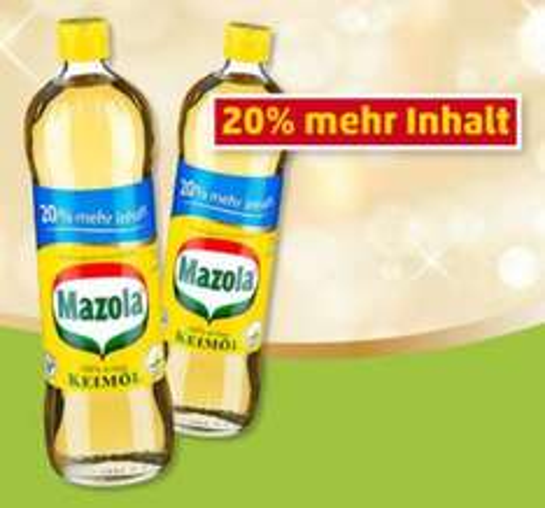 Mazola Keimöl 900ml nur 1,99€ bei LIDL Bundesweit